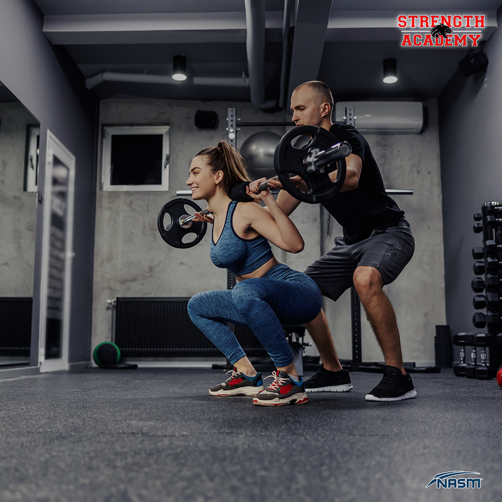 Strength Academy Personal Trainer with Client
